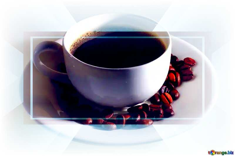 Cup coffee white Design Template Business Infographic Banner №32462