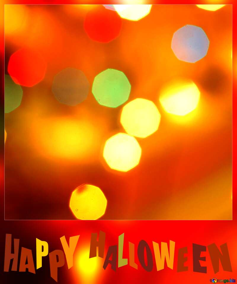 Bokeh lights background vivid colors happy halloween №24617