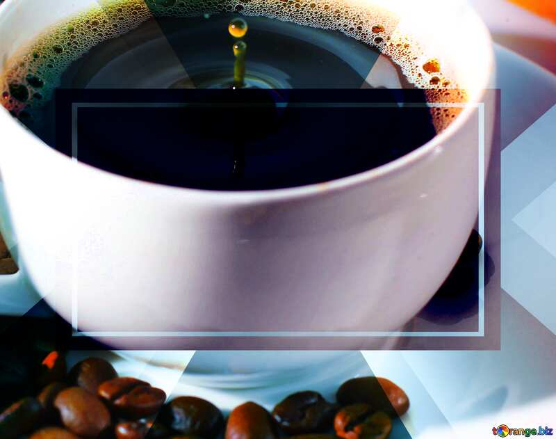 Coffee drops powerpoint website infographic template banner layout design responsive brochure business №30848