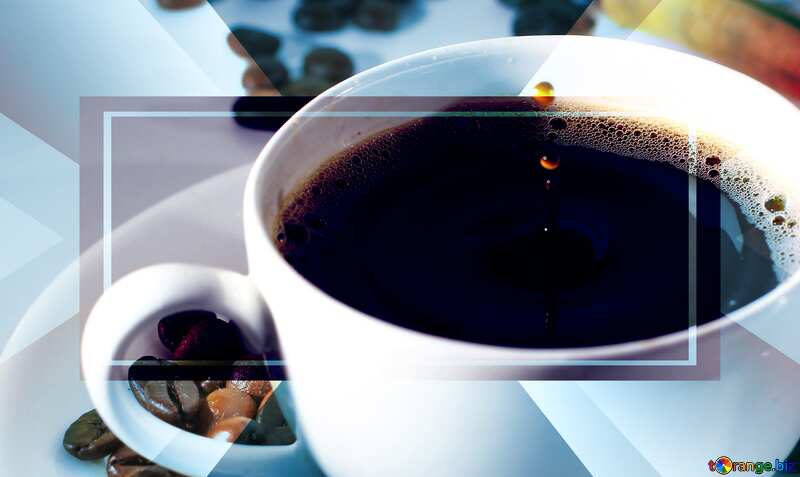 coffee cup with drop powerpoint website infographic template banner layout design responsive brochure business №30848