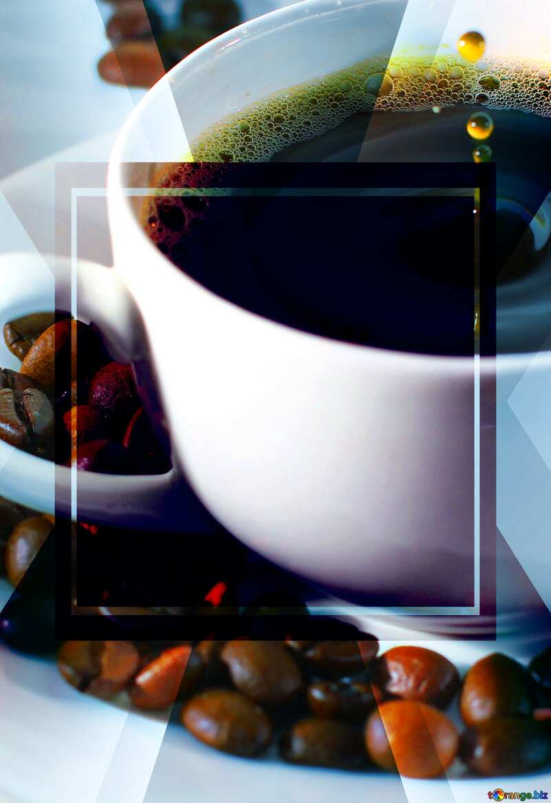 A drop of coffee powerpoint website infographic template banner layout design responsive brochure business №30848