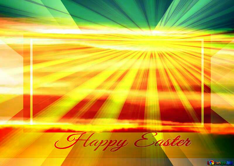 Greeting card Happy Easter Background powerpoint website infographic template banner layout design responsive brochure business №31611
