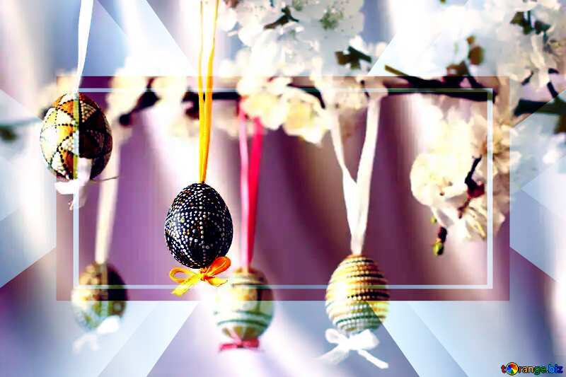 Easter tree ornaments Business Brochure Layout Template №29819