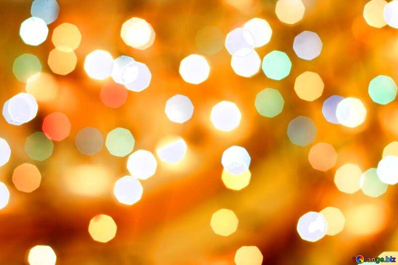 Christmas bokeh lights background vivid colors №24617