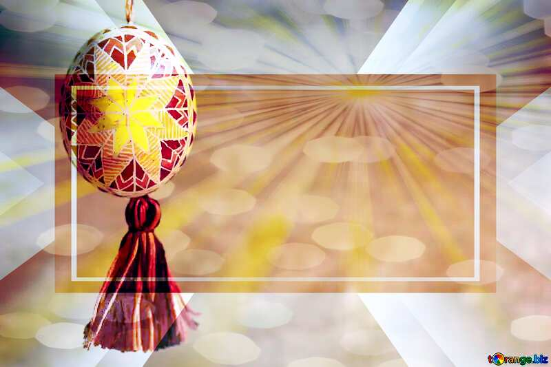 Easter greeting card Banner Template №29360