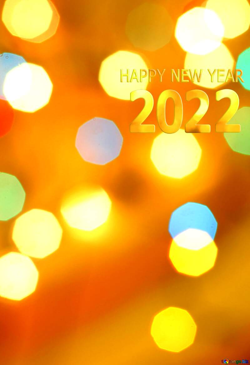 Christmas bokeh lights background vivid colors happy new year 2022 №24617