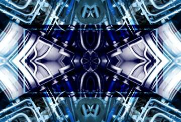 The effect of stained blue. Fragment. Frame Pattern.