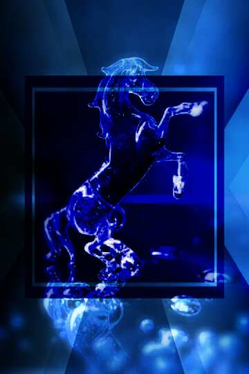 L'effetto dello specchio. L'effetto del buio. L'effetto di macchiato blu. telaio sfocatura.