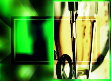 The effect of rotation. The effect of contrast. The effect of stained green. Blur dark frame. Fragment.