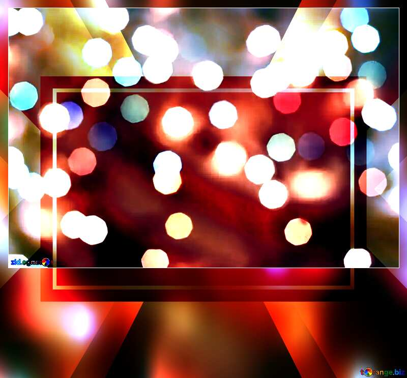 Bokeh blurred lights Christmas background Christmas background Template frame Card №24617