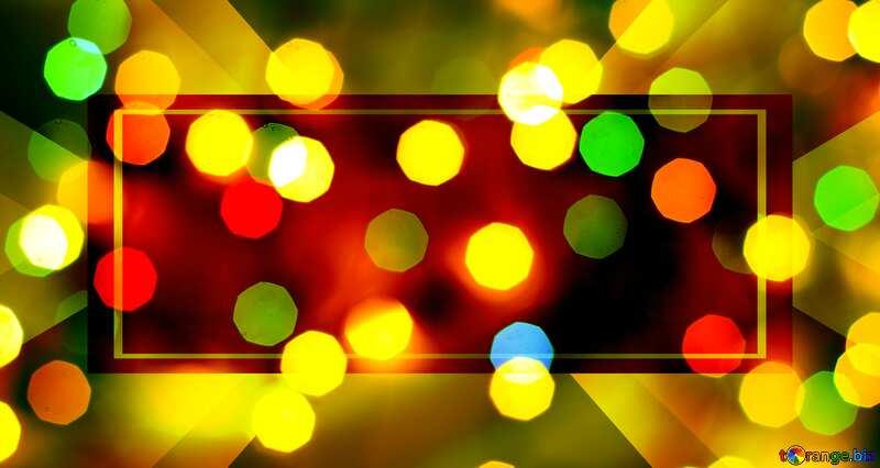 Bokeh blurred lights Christmas background Christmas background Template frame №24617