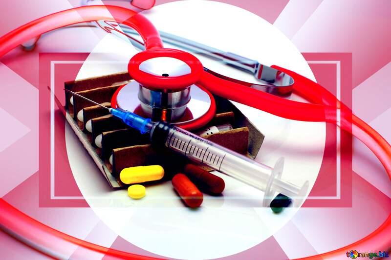 Medicine infographic presentation template Responsive Banner Layout Design №18984