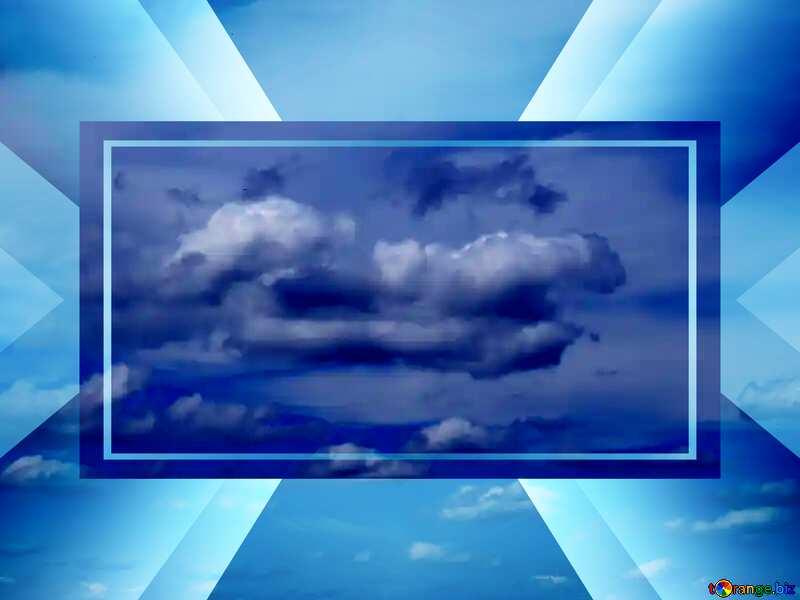 Heavenly cloud powerpoint website infographic template banner layout design responsive brochure business №24198