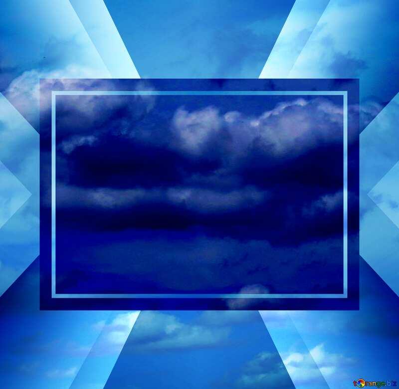Heavenly cloud sky powerpoint website infographic template banner layout design responsive brochure business №24198