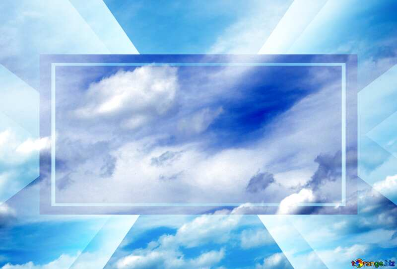 Cloudy sky powerpoint website infographic template banner layout design responsive brochure business №24212