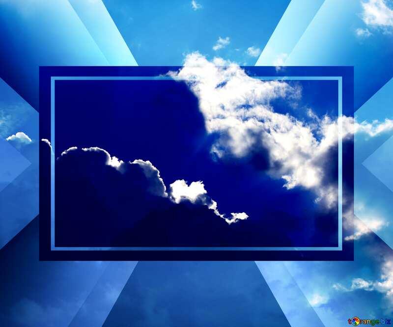 Beautiful sky powerpoint website infographic template banner layout design responsive brochure business №22715