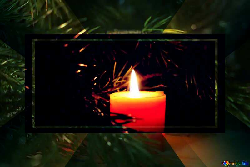 Christmas desktop wallpaper with candles powerpoint website infographic template banner layout design responsive brochure business №24632