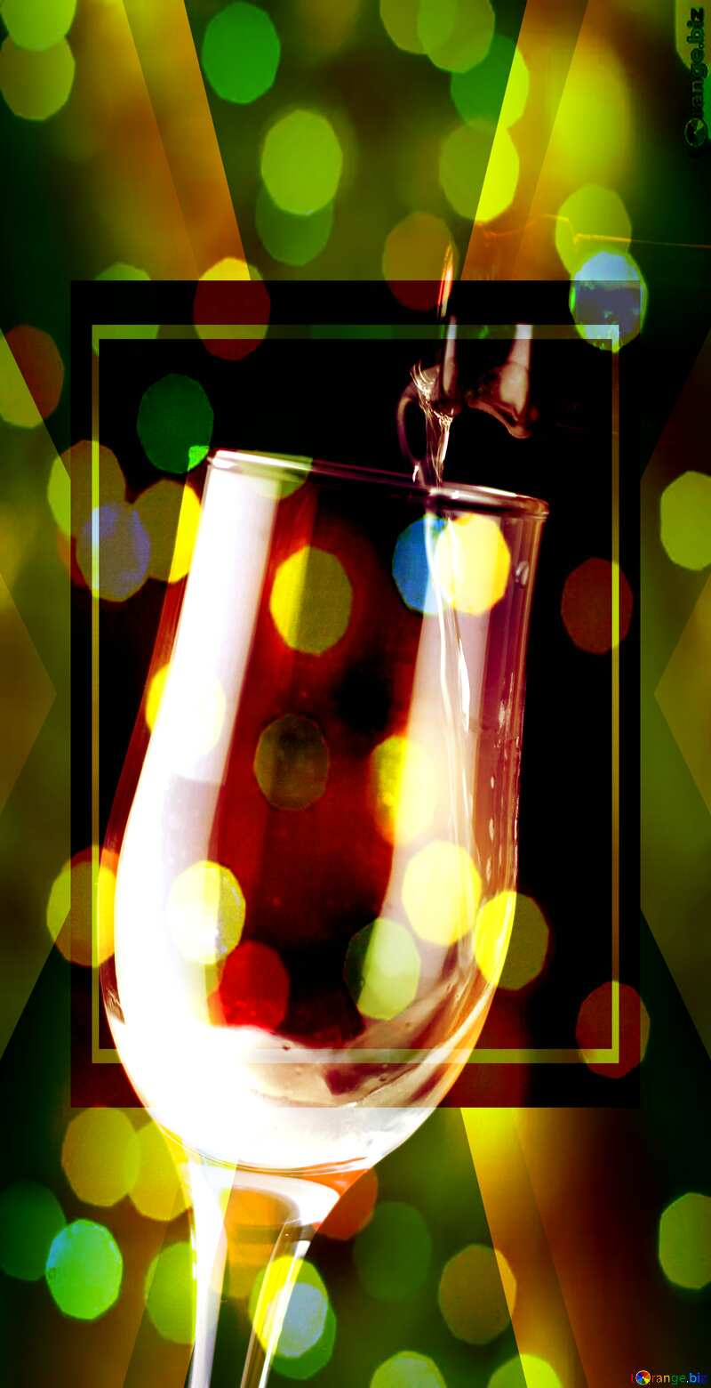 Foamy wine Wedding card background powerpoint website infographic template banner layout design responsive brochure business №25778