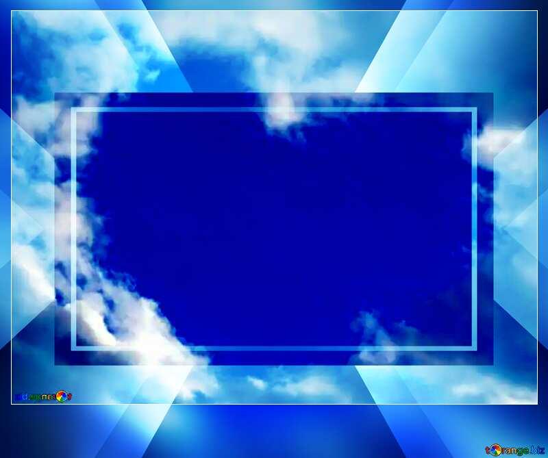 Heart clouds dark frame blank card powerpoint website infographic template banner layout design responsive brochure business №22604