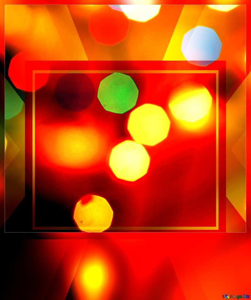 Bokeh blurred lights Christmas background Christmas background Template frame Card Template №24617