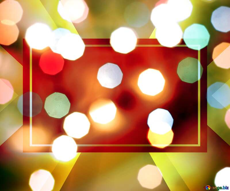 Bokeh blurred lights Christmas background Christmas background Template frame Card Template Design Infographic №24617