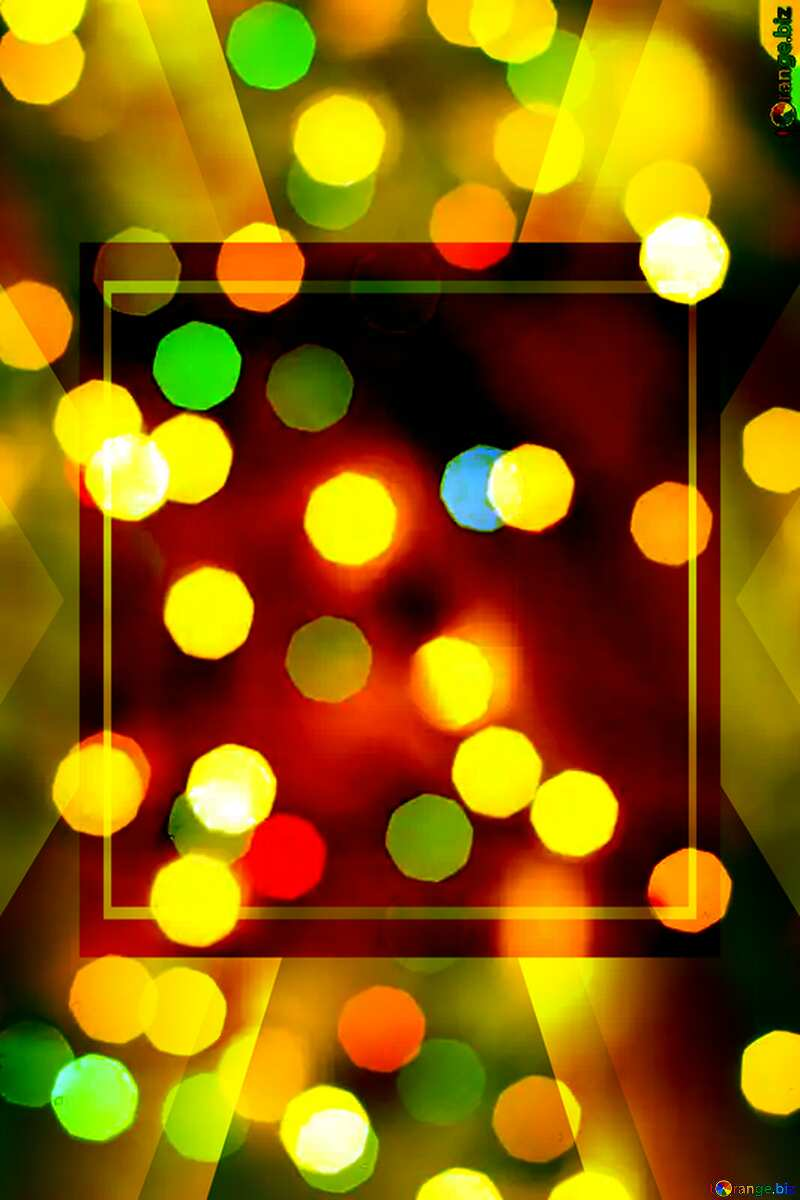 Christmas bokeh background Powerpoint Template №24617