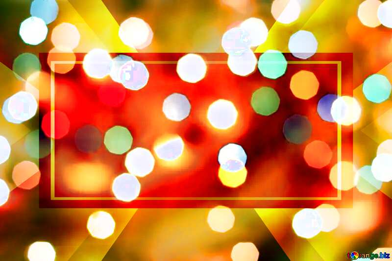 Christmas bokeh lights background vivid colors Powerpoint Website Design Banner Template №24617