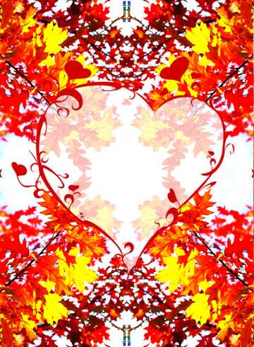 The effect of the dark. Very Vivid Colours. Fragment. Pattern Heart.
