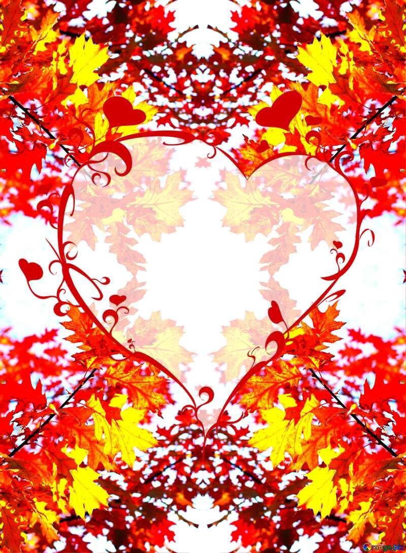 Autumn heart frame №38535