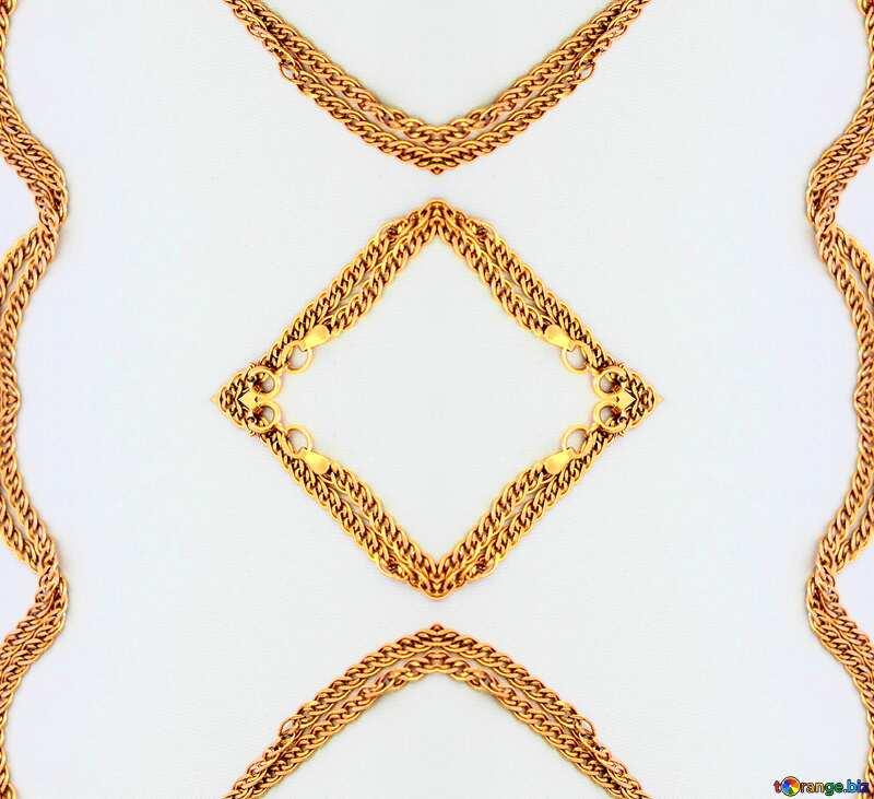 Gold chain frame №3571