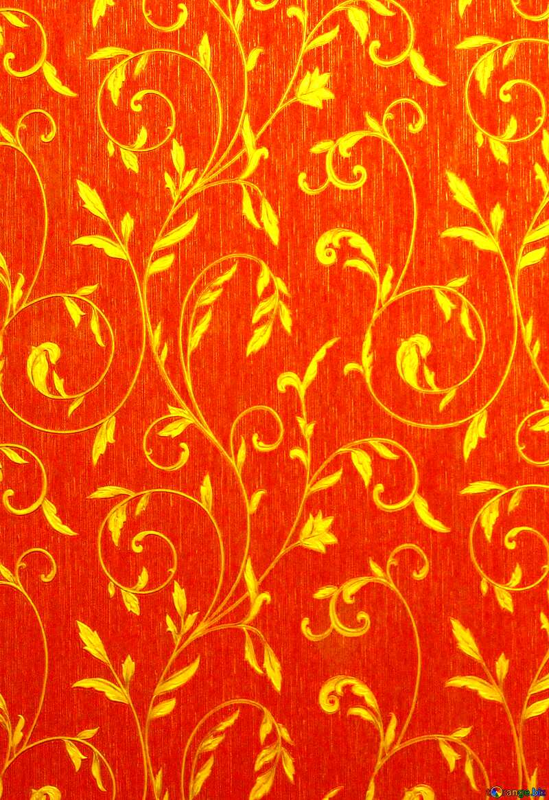 Gold on red wallpaper texture №36317
