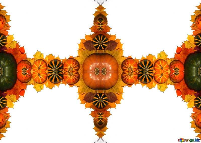 Texture. Autumn blank with pumpkins. №35178