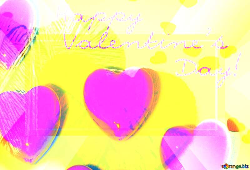 Hearts of lovers Background Design Banner Layout Template №16409