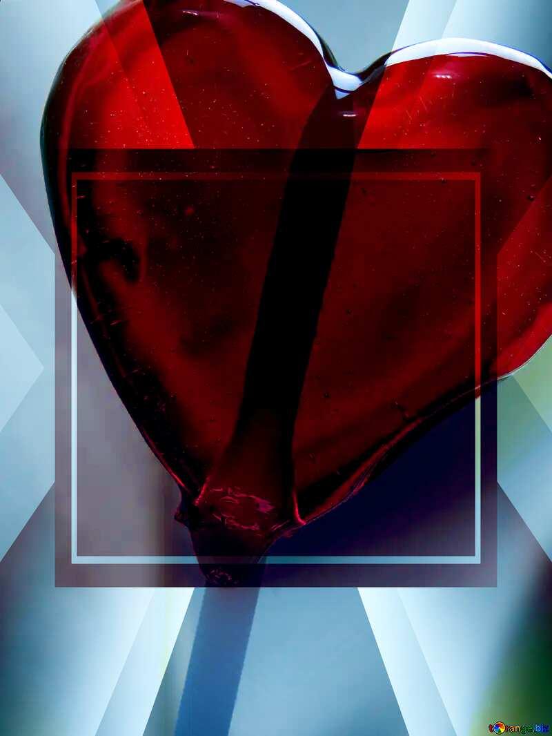 Heart on Stick Design Banner Template №17466