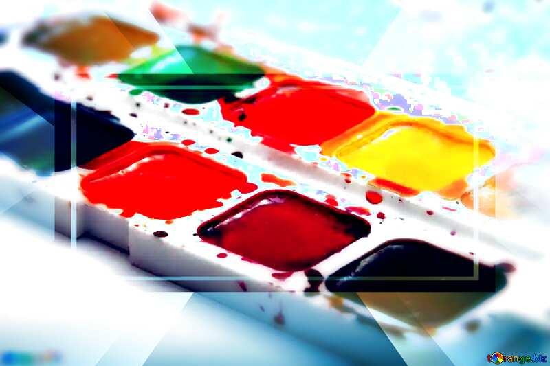 Bright colors. Watercolor paints. Template Brochure Infographic Design №18025