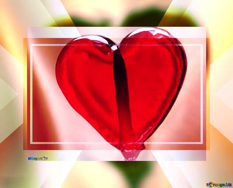 Heart lollipop powerpoint website infographic template banner layout design responsive brochure business №17469