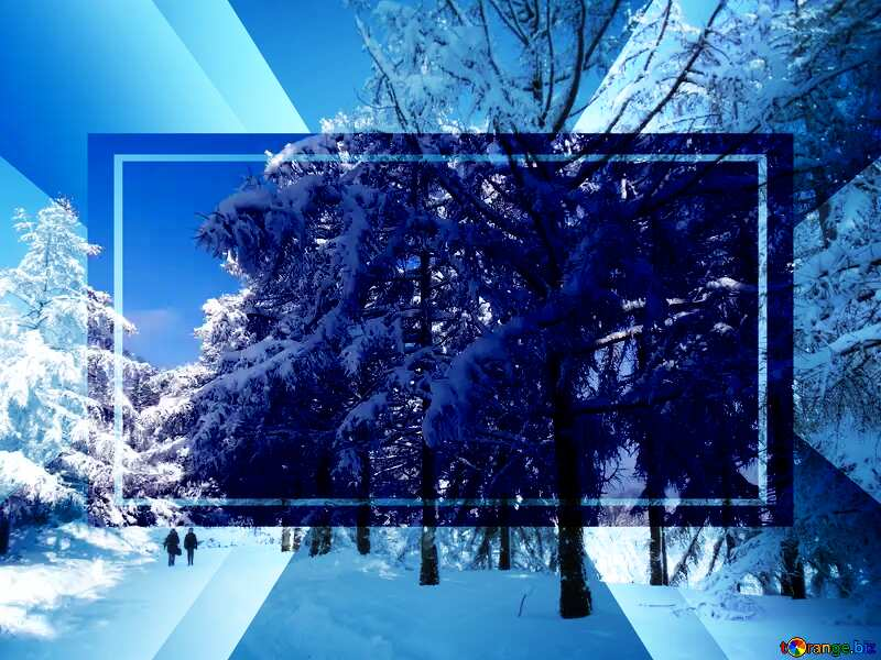 The Snow Winter powerpoint website infographic template banner layout design responsive brochure business №10568