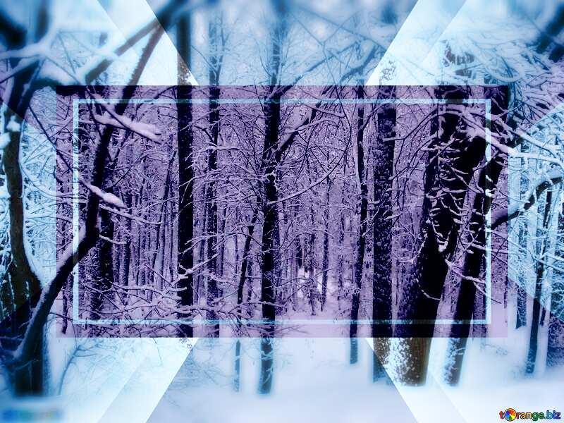 Winter Forest Template Design №10505