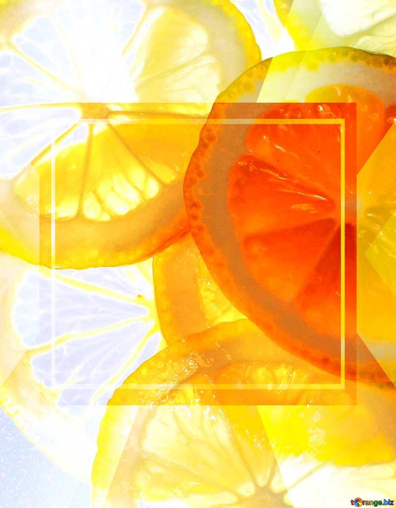 Sliced lemon Design Template Infographic Banner №18326