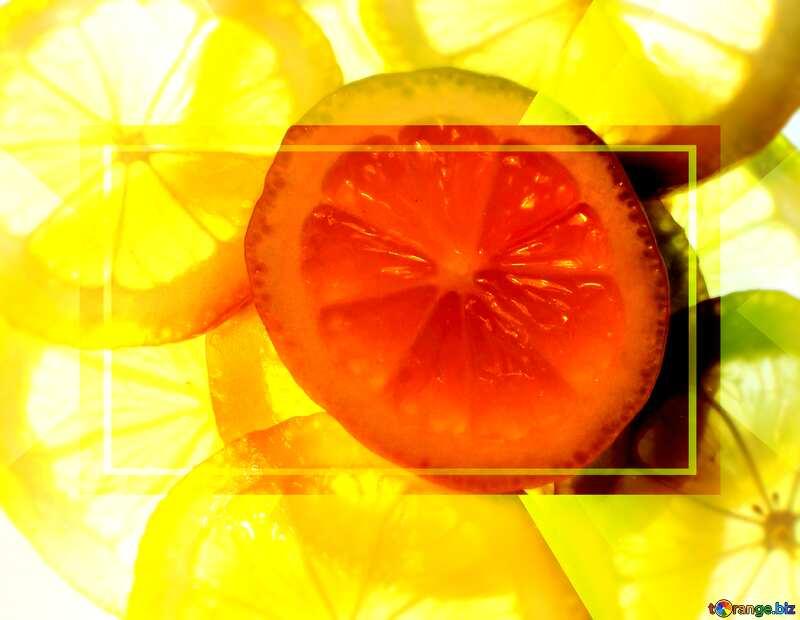Sliced lemon Template Banner Infographic Design №18326