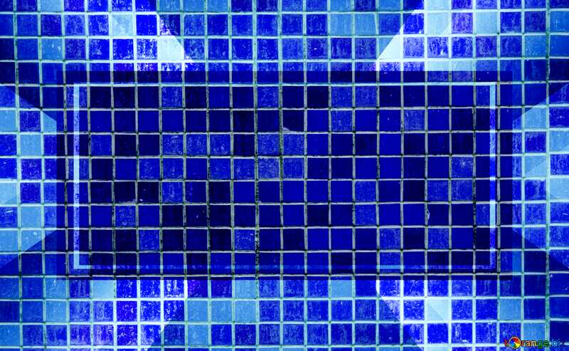 Blue Mosaic Tiles Responsive Infographic Template №12763