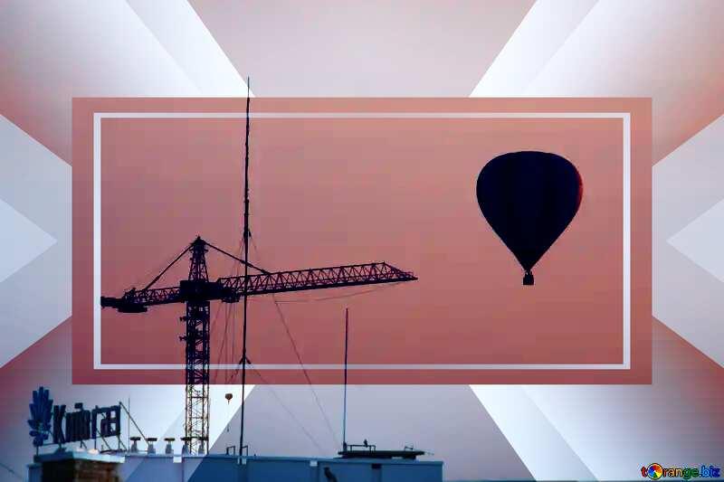 Walk at Air balloon powerpoint website infographic template banner layout design responsive brochure business №10592