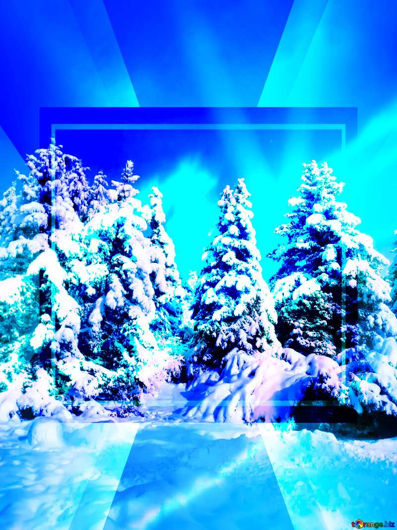 Forest Tree Snow sun Template Layout Infographic №10576