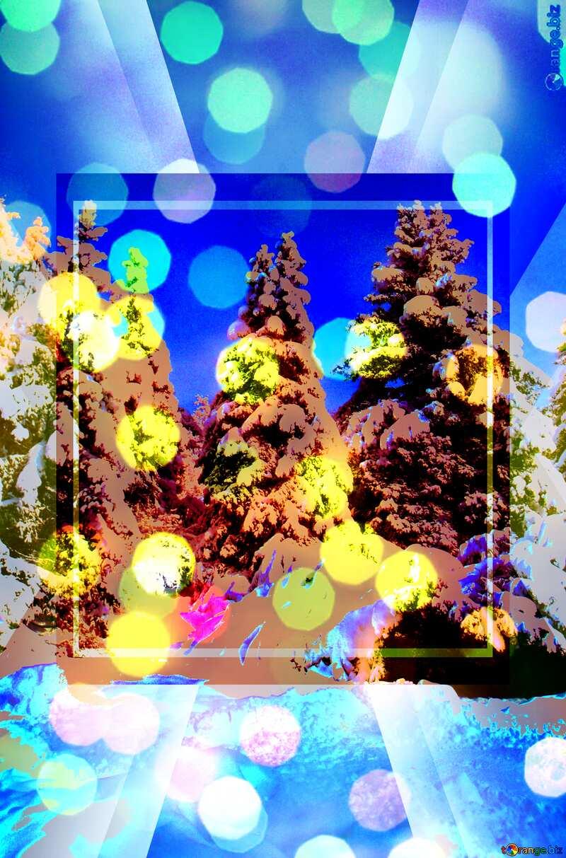 Tree Snow sun Design Infographic Powerpoint Template №10576