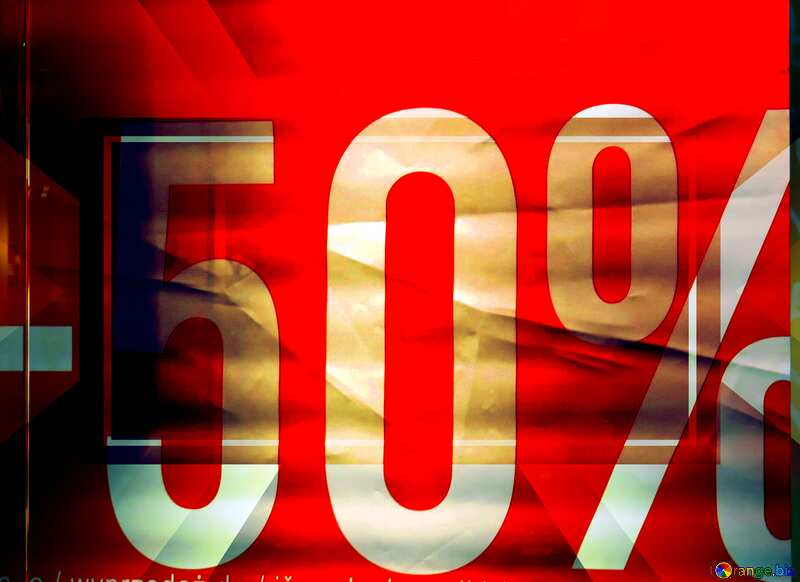 -50% Sale on red background Banner Design Infographic Layout Sale Template №16264