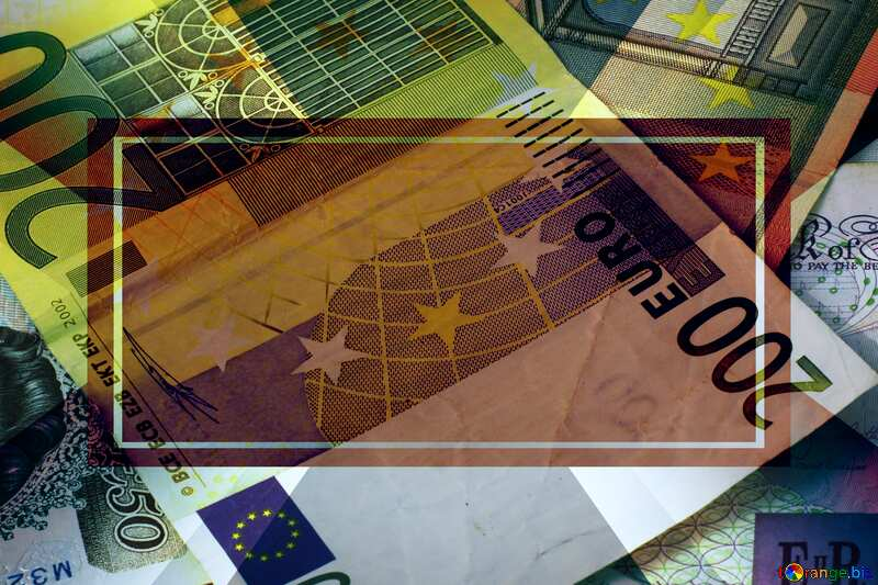 World money Euro Frame Template №17140