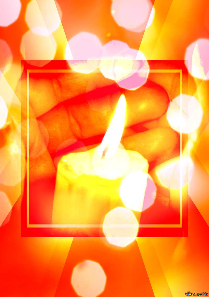 Candle in hand Template №18111