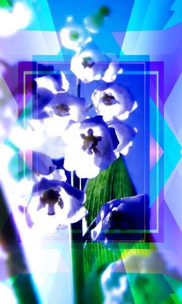 Die Wirkung von Licht. Sehr klare Farben. Unschärfe Rahmen. Bruchstück.