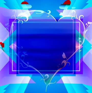 Vivid Colors. Fragment. The template image with a heart.