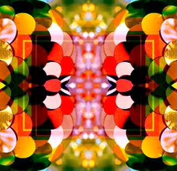 El efecto de la luz. Colores vivos. Fragmento. Patrón.